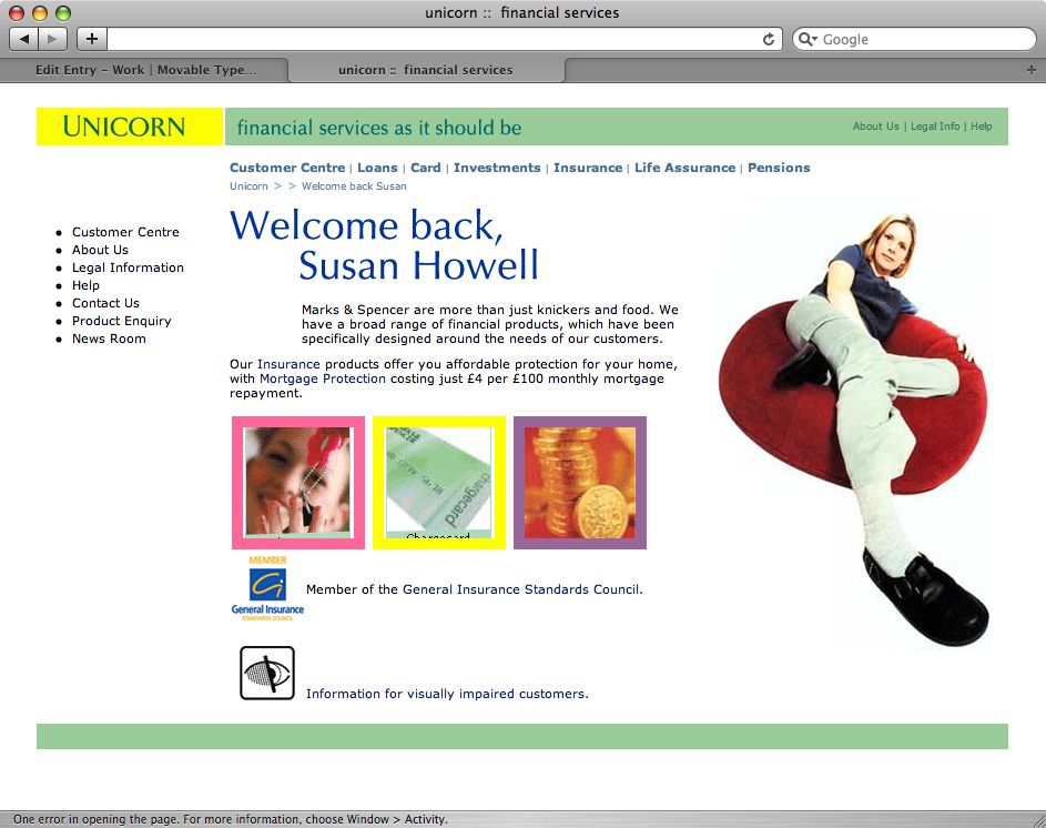 Unicorn home page